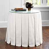 Wide Pleat Skirted Side Table
