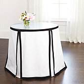 Paneled Trim - Skirted Round Side Table Trio