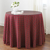 Suzanne Kasler Skirted Signature Plaid Side Table