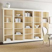 Tuscan 5-Piece Flush Bookcases Set