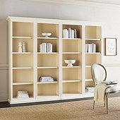 Tuscan 4-Piece Flush Bookcases Set