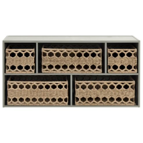 Abbeville 5 Compartment Stacking Cabinet with Honeycomb Baskets