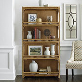 Beverly Rattan Bookcase