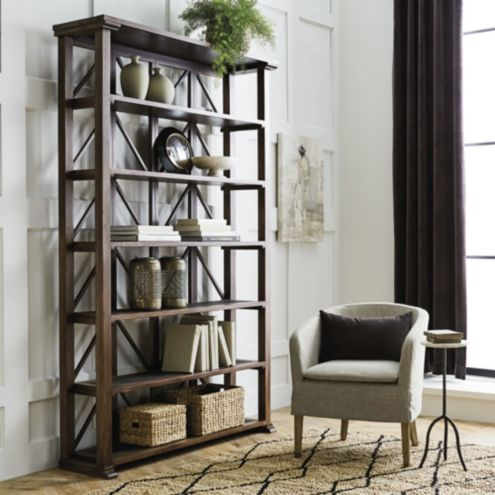 Marcus Tall Bookcase With Slate Shelves