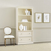 Tuscan File Console & Hutch with Shelves
