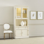 Tuscan Cabinet & Hutch with Doors