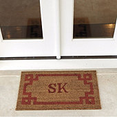Suzanne Kasler Greek Key Personalized Coir Mat