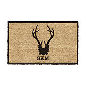 Suzanne Kasler Antler Personalized Coir Mat
