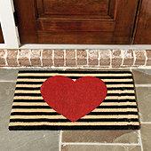 Heart Coir Mat