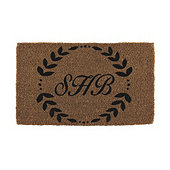 Leaf Framed Personalized Coir Doormat