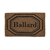 Octagon Framed Personalized Coir Doormat