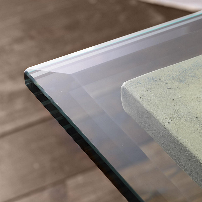 rectangle glass table top Rectangle Glass Table Tops w/ Beveled Edge | Ballard Designs  rectangle glass table top