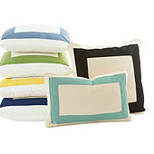 Bordered Outdoor Pillows