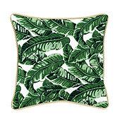 Corded Pillow - 16 inch square - Canvas White Sunbrella