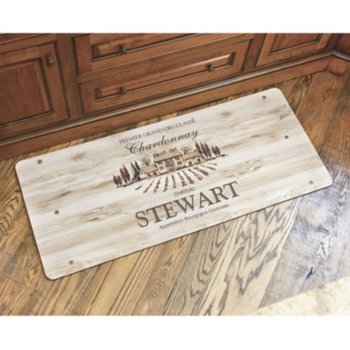 Personalized Wine Crate Comfort Mat | Lighting