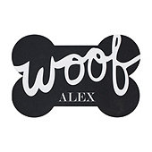 Personalized Bone Pet Bowl Mat