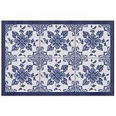 Floral Tile Floor Mat