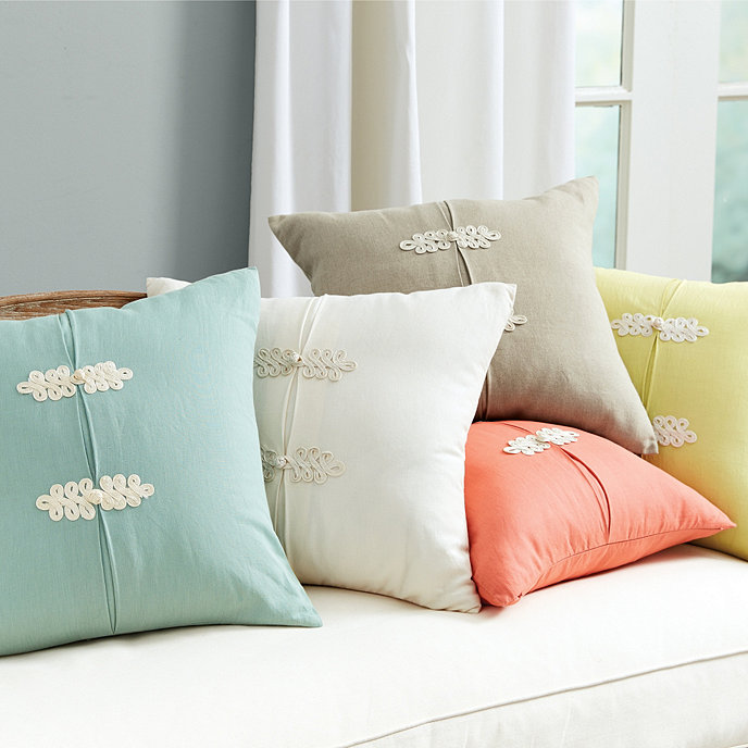 Ballard Design Pillows kiki frog knot pillow | ballard designs | ballard designs