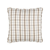 Suzanne Kasler Signature Holiday Plaid Pillow Cover - Linen Blanc