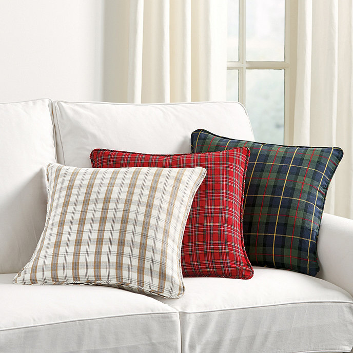 Ballard Design Pillows suzanne kasler holiday plaid pillows | ballard designs | ballard designs