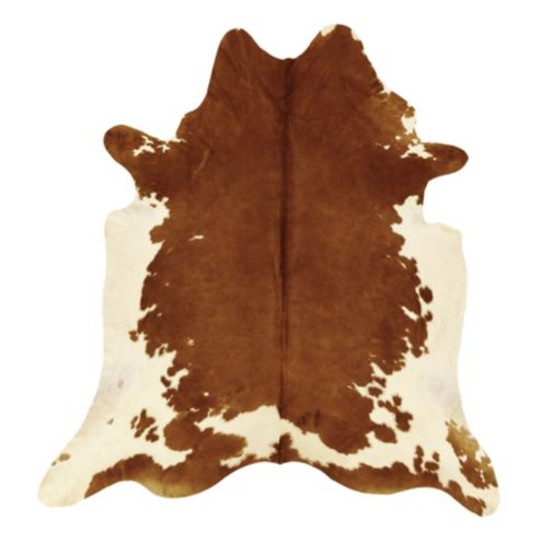 Natural Cowhide Rug - Brown and White