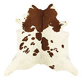 Natural Cowhide Rug - White and Brown