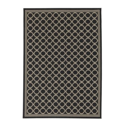 Bermuda Indoor/Outdoor Rug - Black & Rust