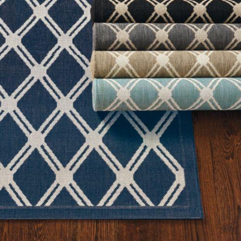 Tricia Trellis Indoor Outdoor Rug Ballard Designs