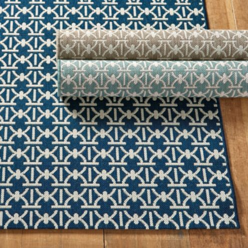Links Indoor/Outdoor geometric Rug