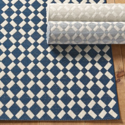 Sicily Blue and White Indoor Outdoor Area Rug