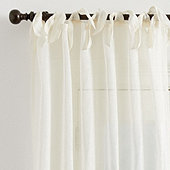 Linen Sheer Tie Top Drapery Panel