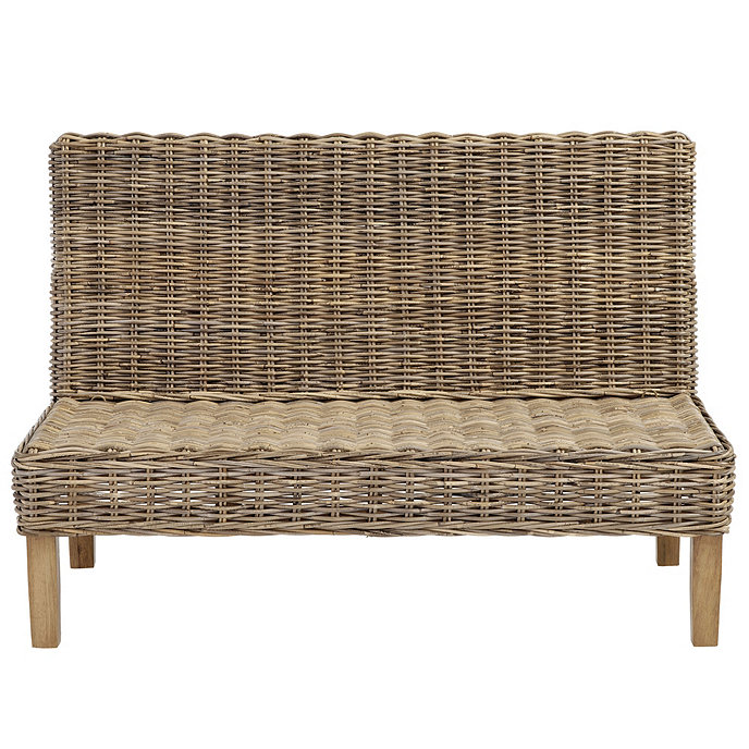 Excellent Roselind Wicker Banquette Bench 48 Ballard Designs Gmtry Best Dining Table And Chair Ideas Images Gmtryco