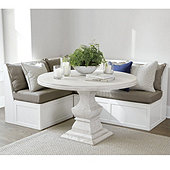 Breton 3-Piece Banquette with Seat & Back Cushions - 30