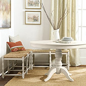 Dorchester 3-Piece Bench Set - Two 2 Seat Benches & One Corner Bench