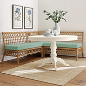 Suzanne Kasler Southport 3-Piece Banquette with Seat Cushions