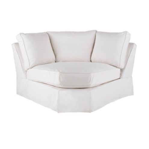 Baldwin Corner Wedge Slipcover | European-Inspired Home Decor