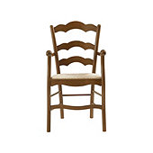 Casa Florentina Genoa Armchair with Rush Seat - Stocked