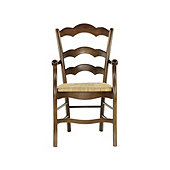 Casa Florentina Genoa Armchair with Rush Seat - Custom