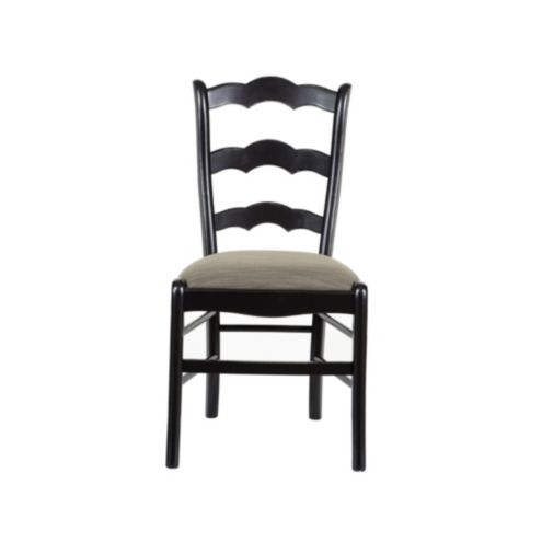 Casa Florentina Genoa Side Chairs with Linen Seat,