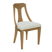 Elda Dining Chair With Slip Seat - Natural Oak