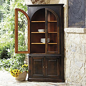 Gabriele Glass Door Corner Cabinet