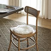 Lucerne Faux Fur Round Seat Pad - Sheep Skin