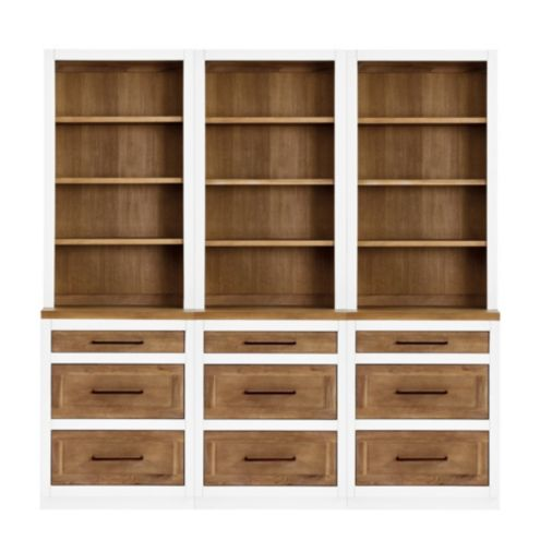 Ashton Dining Room Servers with 3 Drawer Consoles