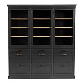 Trieste Servers - Set of 3 with Three 3 Drawer Consoles