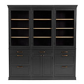Trieste Servers - Set of 3 With Two 3 Drawer Consoles  & One 2 Door Console