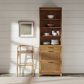 Cyrus Server Hutch with 3-Drawer Console