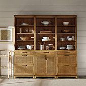 Set of 3 Cyrus Server Hutches with Two 3-Drawer Consoles & One 2-Door Console