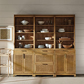 Set of 3 Cyrus Server Hutches with Two 2-Door Consoles & One 3-Drawer Console