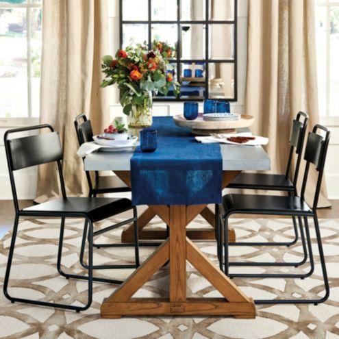 "Tatum 80"" Trestle Dining Table | Ballard Designs"