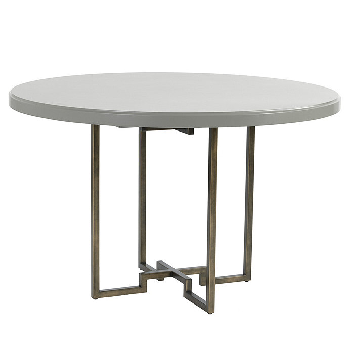 Superieur Metz Round Table With Metal Base